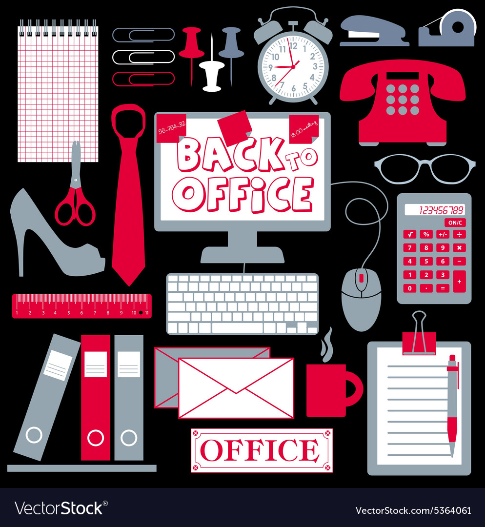 Office set abstract background vector