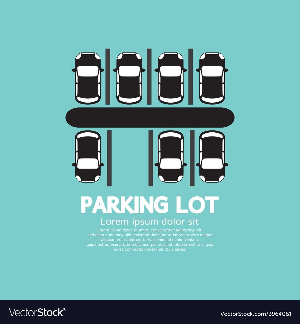 Top view of parking lot vector