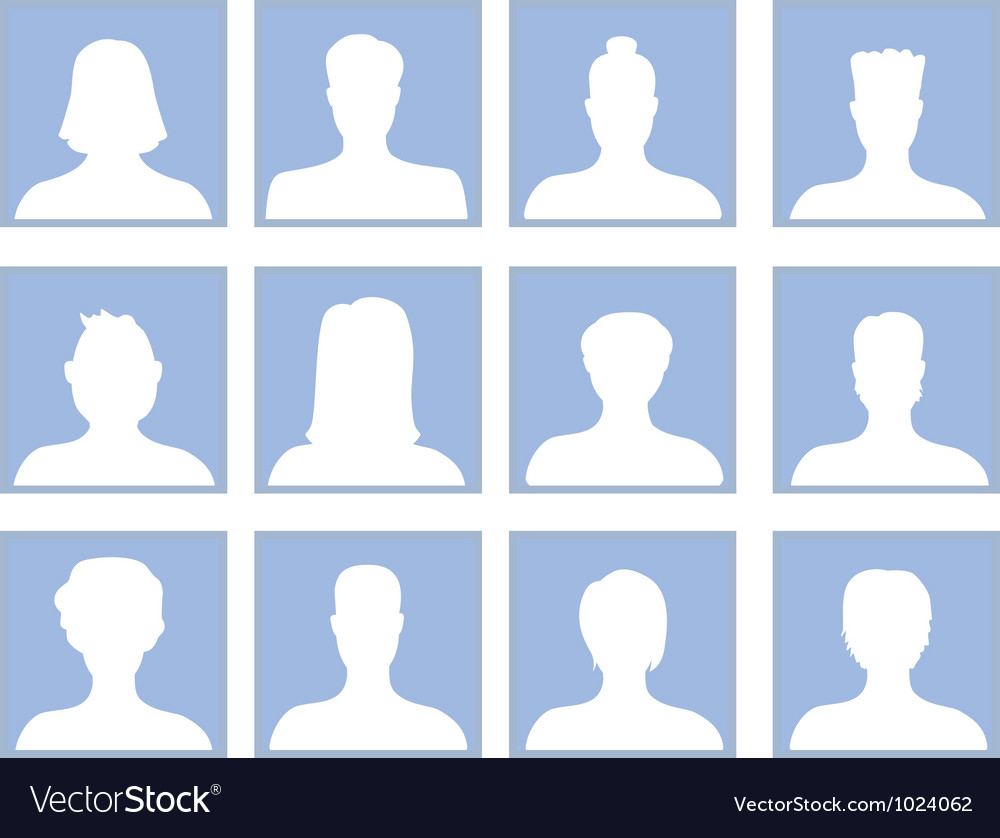 Set with avatar icons vector