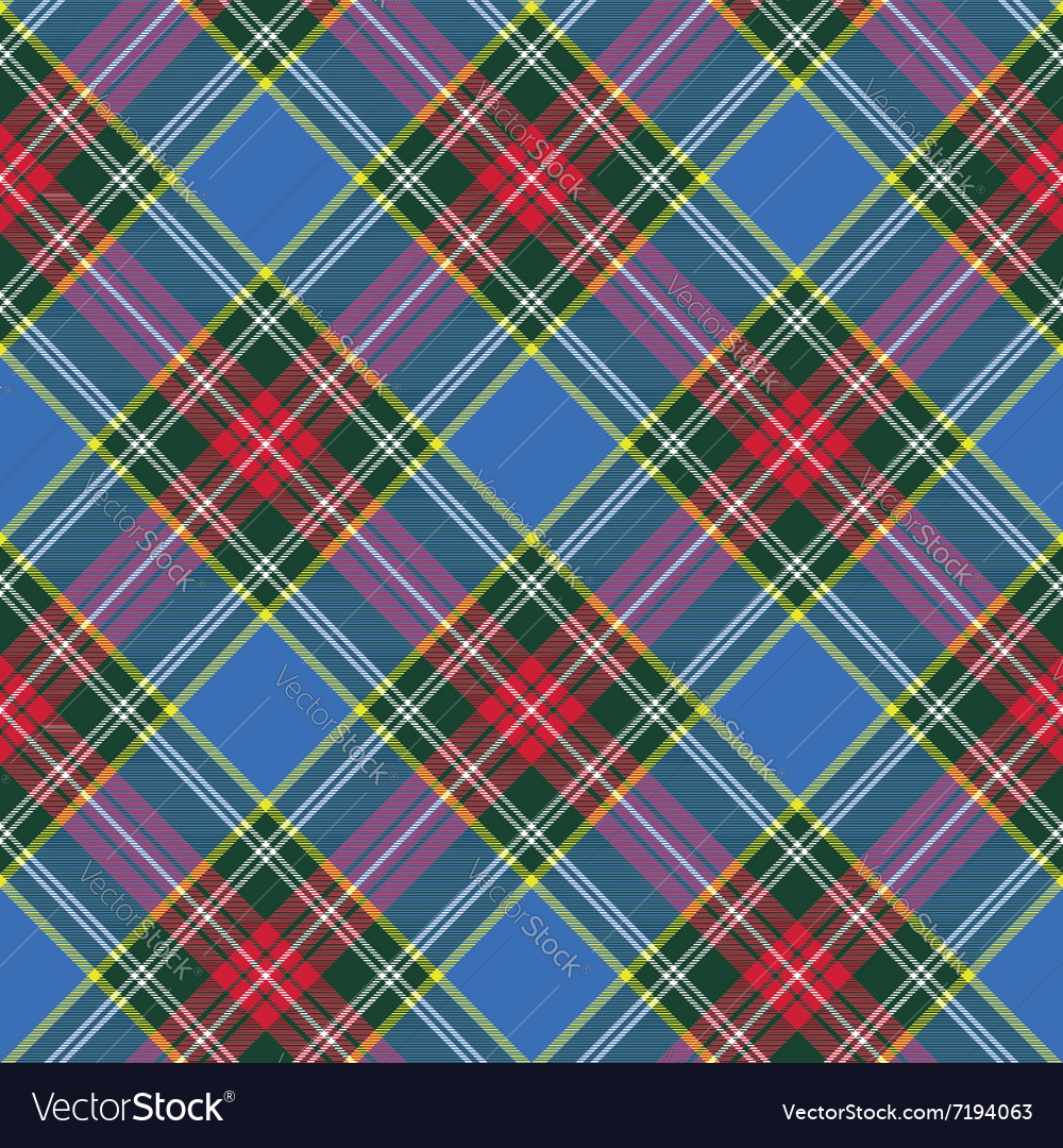 Macbeth tartan kilt fabric texture diagonal vector