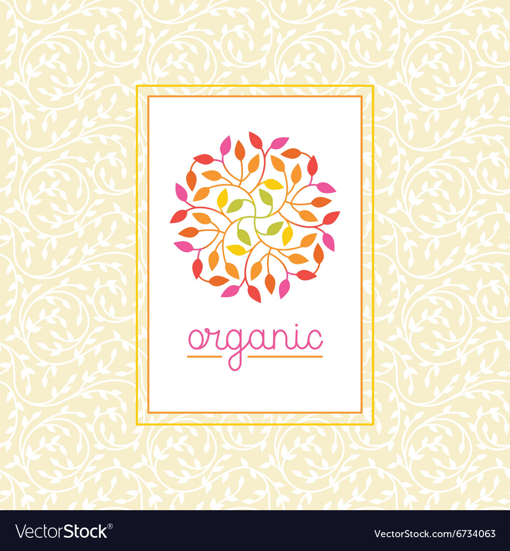 Organic and natural emblem vector