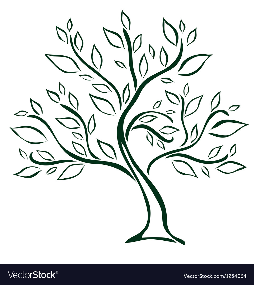 Tree design element vector