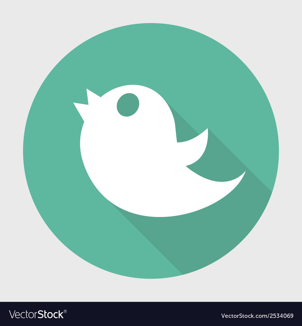 Twitter bird social media web internet icon with vector