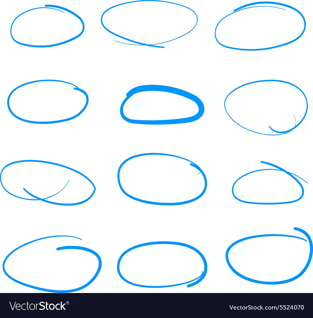 Handdrawn sketch circle set could be used vector