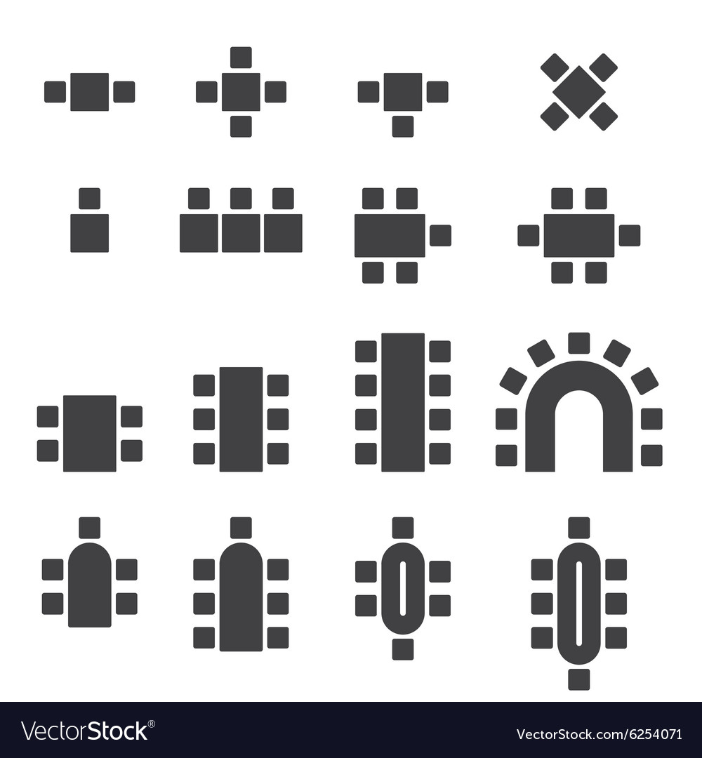 Chair icon set vector