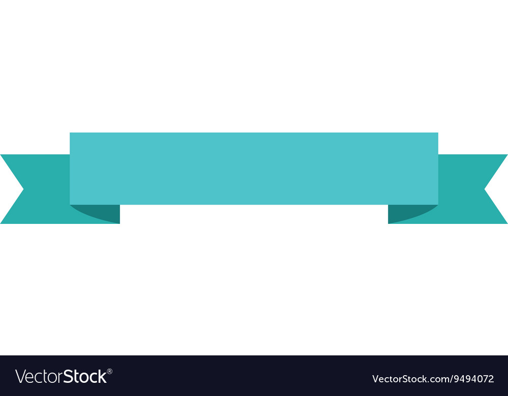 Ribbon banner icon vector