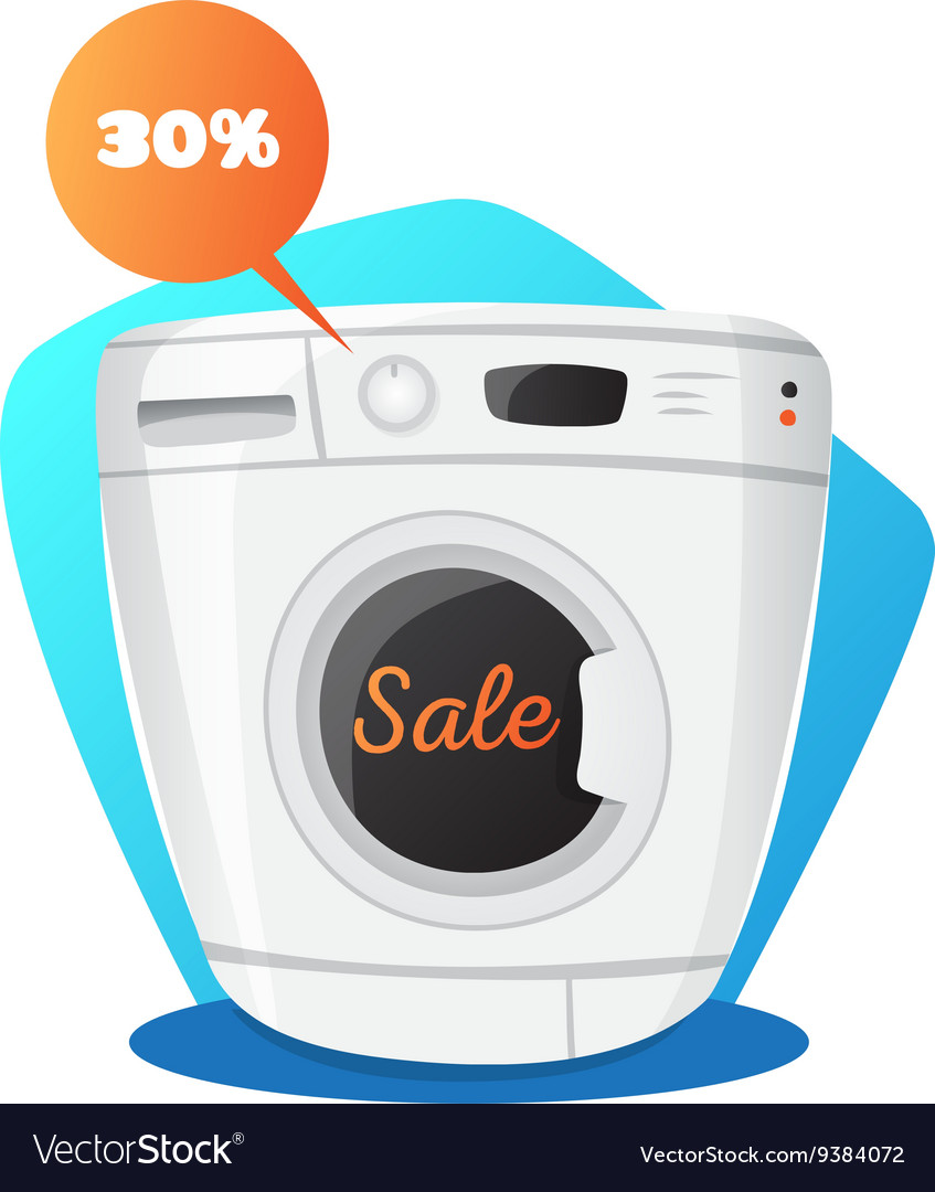 Washing machine in cartoon vector
