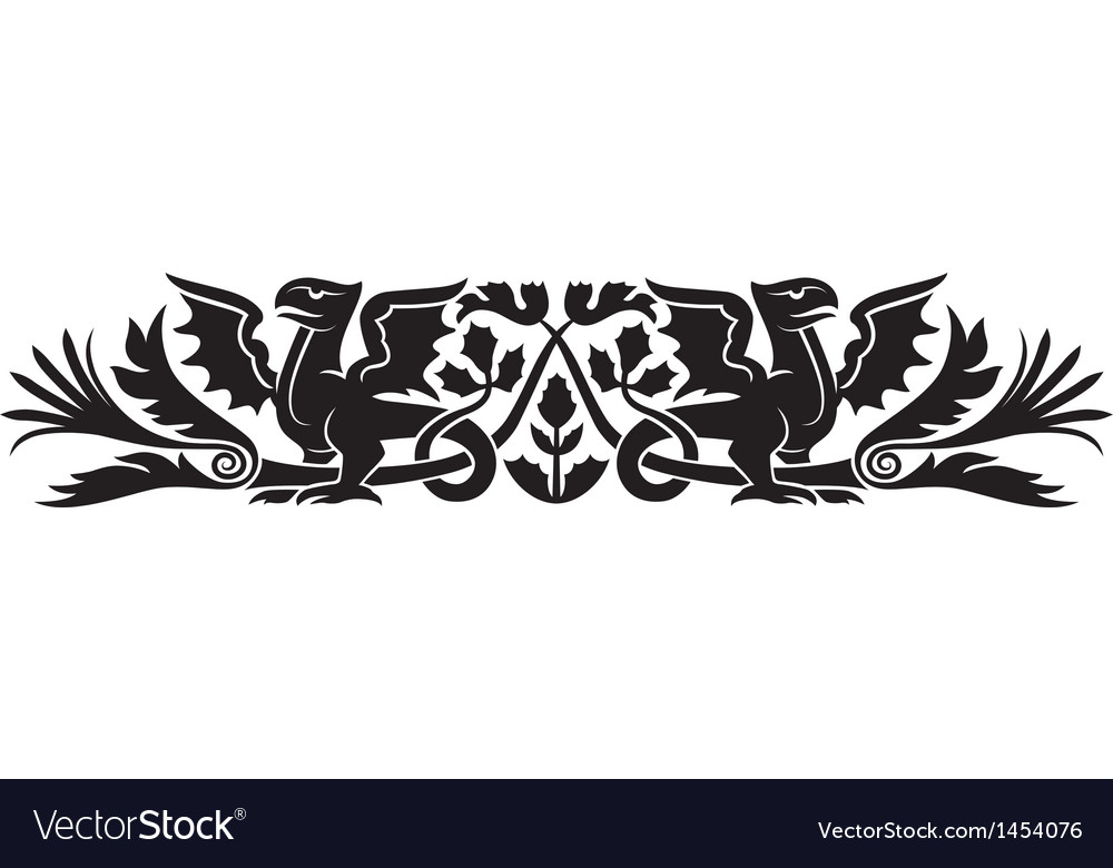 Medieval scotch pattern vector