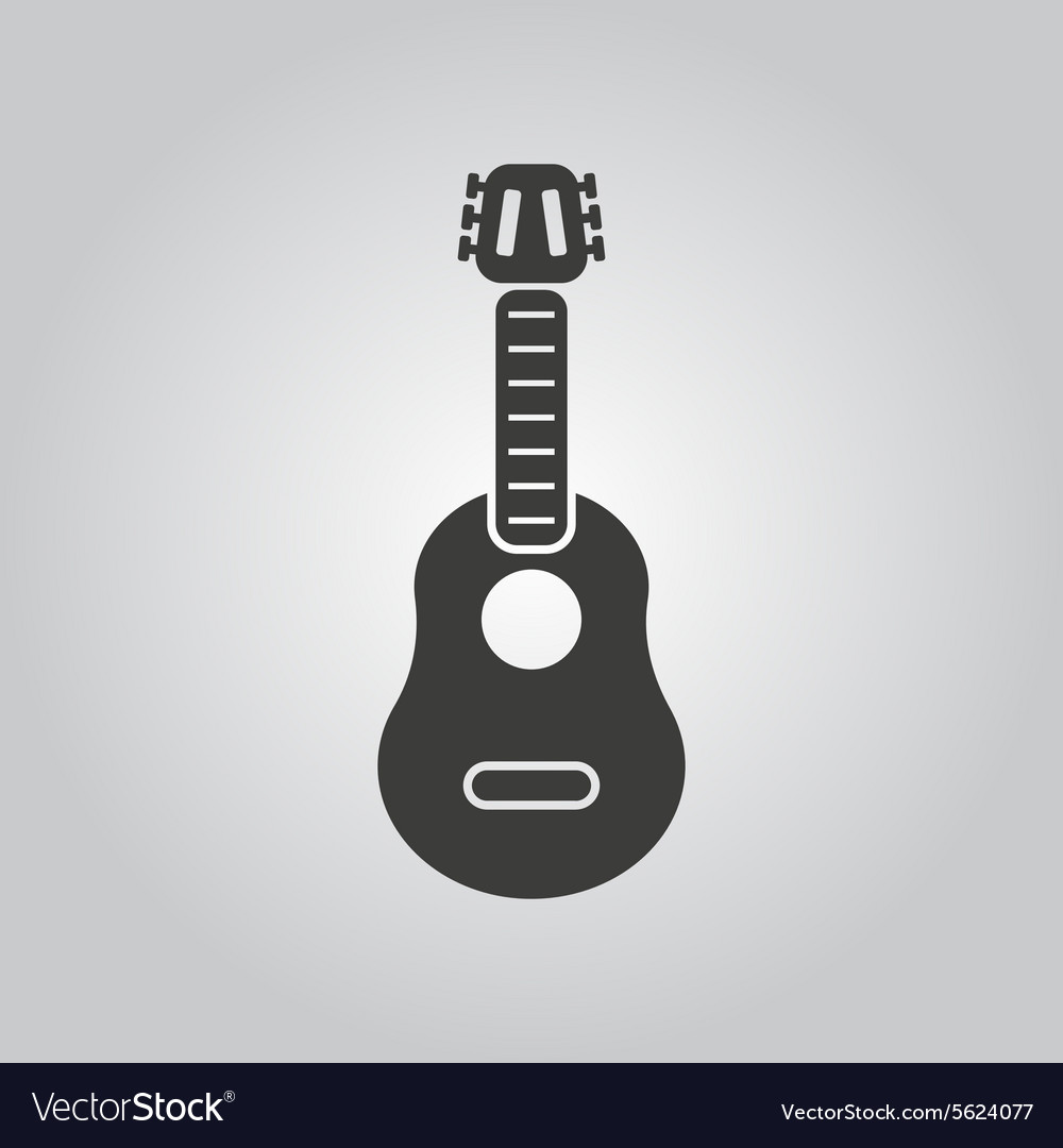Guitar icon music and guitarist musician vector