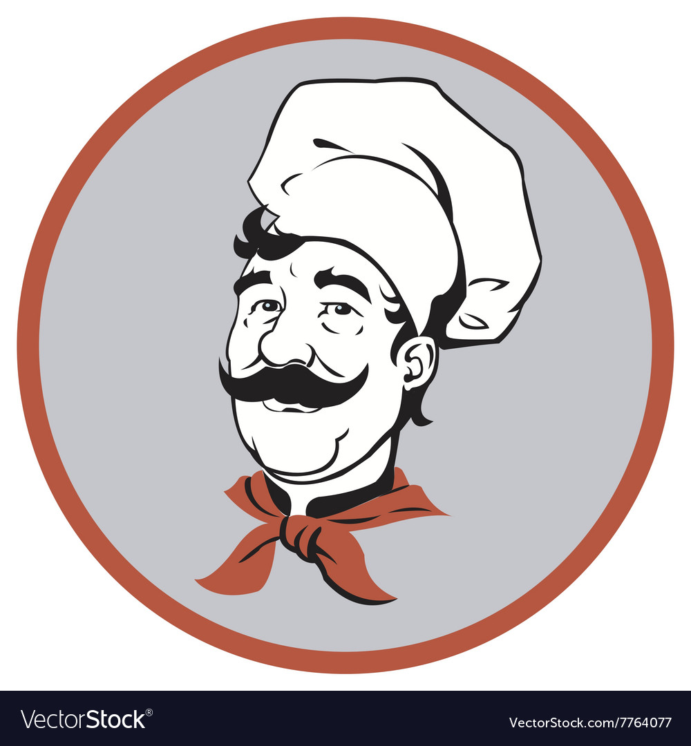 Portrait of a cute chef vector