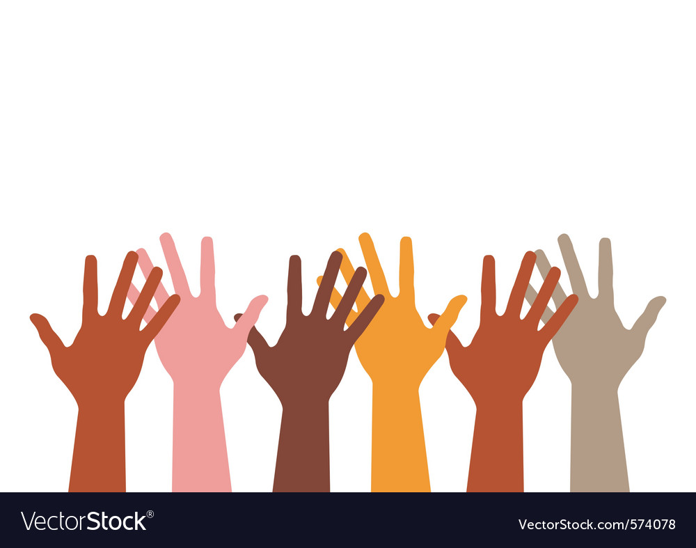 Different hands silhouette vector