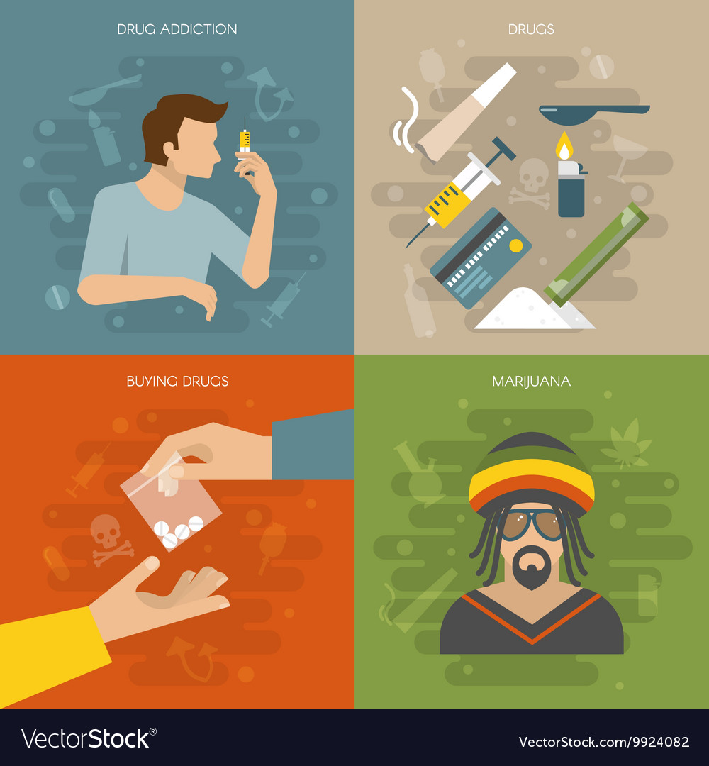 Flat drugs composition vector