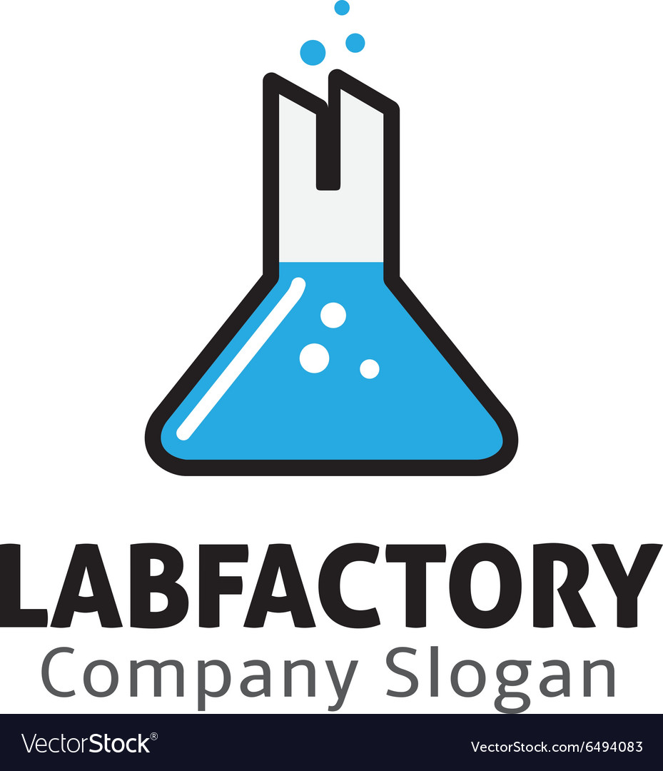Lab factory design vector
