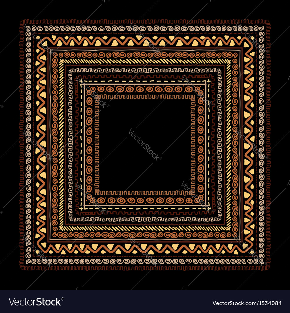 Frame with ethnic handmade ornament for your vector