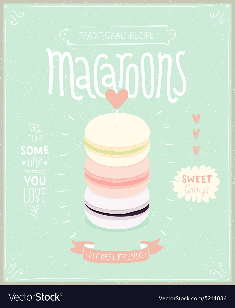 Macaroons poster vector