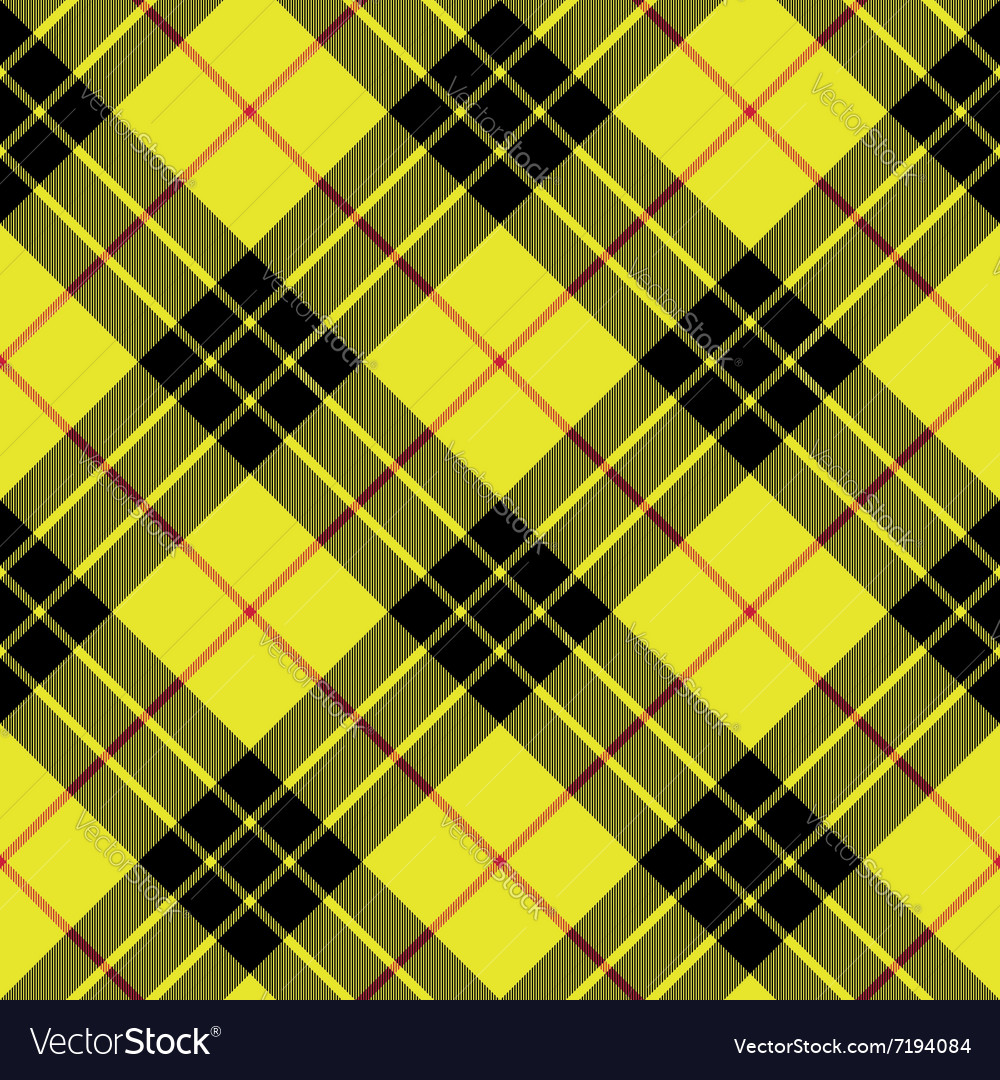 Macleod tartan kilt fabric texture background vector