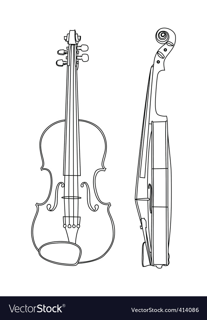 Of violin vector