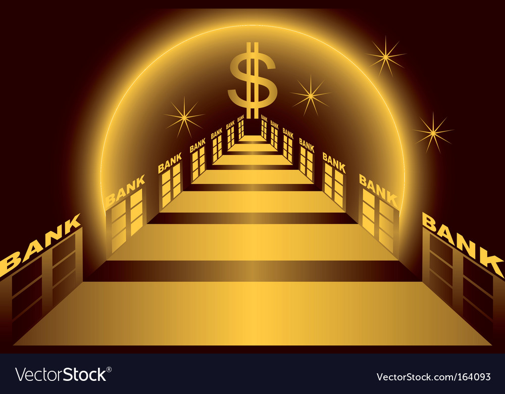 Bank alley vector