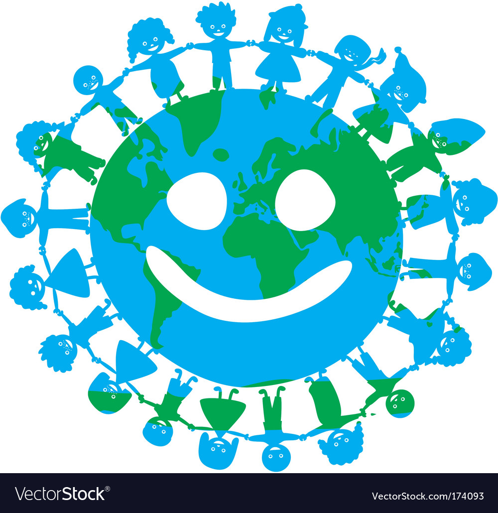 Children around the world vector