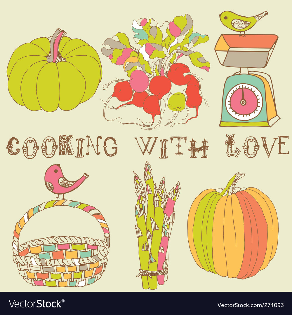 Kitchen card vector
