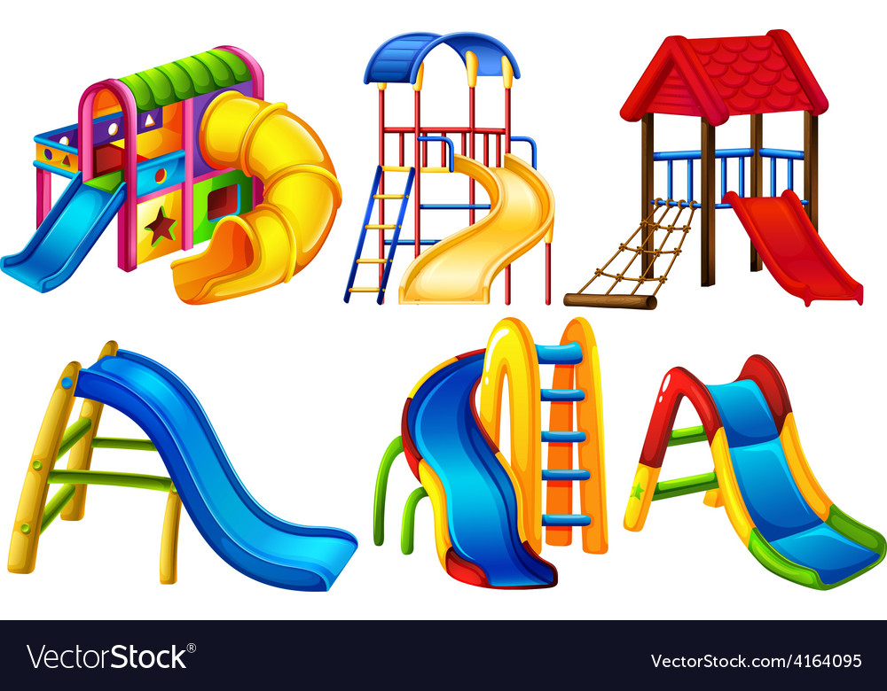 Set of colourful slides vector