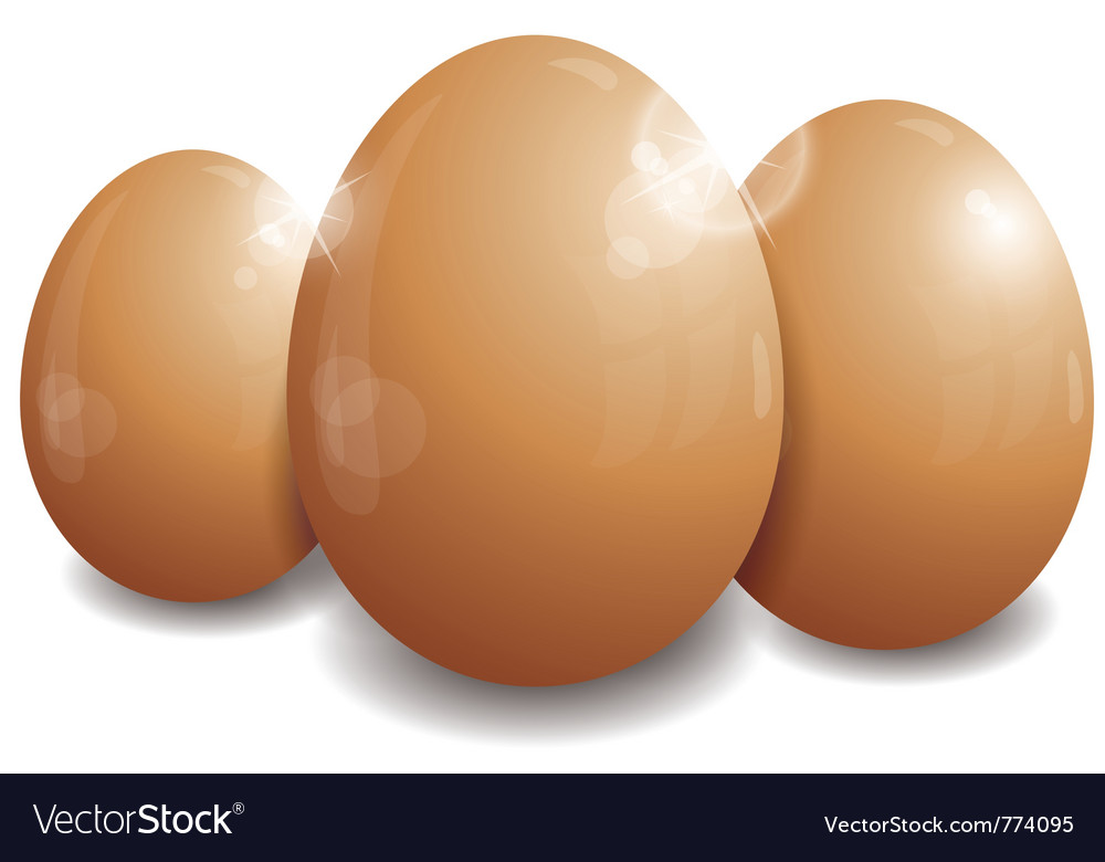 Three easter eggs vector