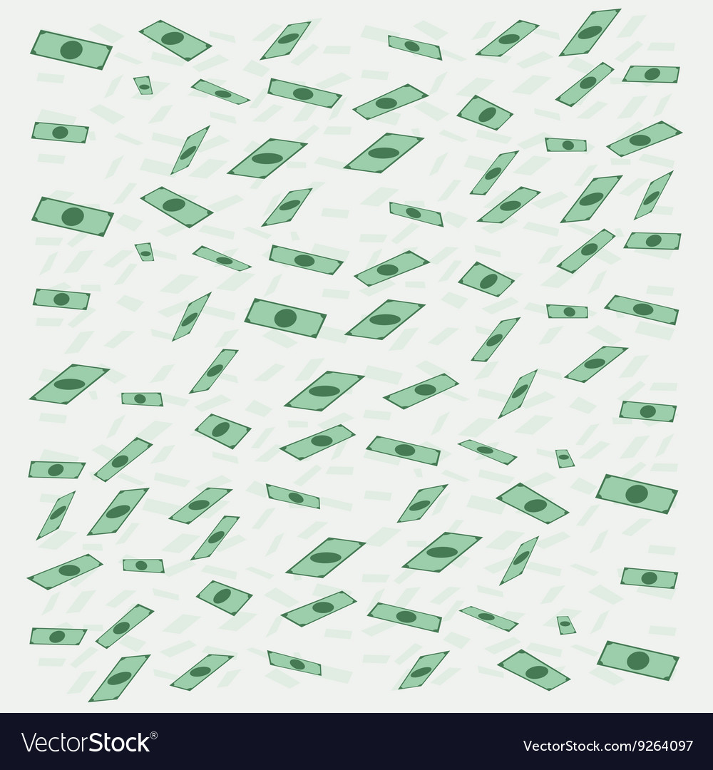Banknotes money flying or falling in flat style vector