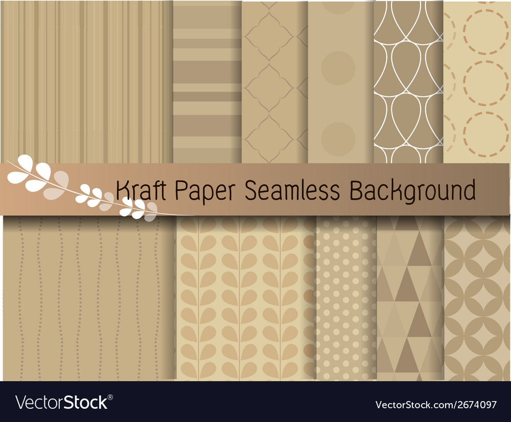 Kraft paper seamless background vector