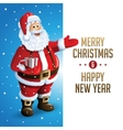 Santa Claus Cartoon Character Showing Merry vector image vector image