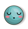 sleepy emoji blue design isolated vector image