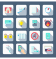 Smart House Square Icons Set vector image vector image