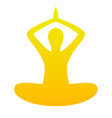 Yoga simple silhouette isolated on white - orange vector image vector image