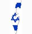 Map of Israel with national flag vector image vector image