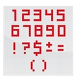 Red Mosaic Number vector image