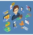 Payment Isometric Set vector image