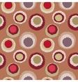 Seamless geometric polka do spotty pattern Motley vector image