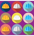 construction helmet Flat vector image