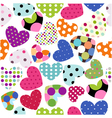 heart patches vector image vector image