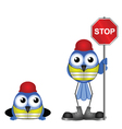 WORKERS STOP SIGN vector image vector image
