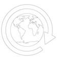 around the globe vector image