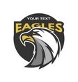 Eagle sports emblem vector image