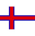 Flag of the Faroe Islands vector image