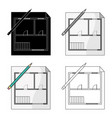 house planrealtor single icon in cartoon style vector image