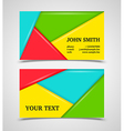 Modern colorful business card template vector image