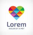 Mosaic heart symbol logo icon design template vector image