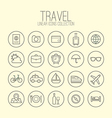 Travel Linear Icons Collection vector image