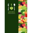 Vegetarian menu cover for restaurant or Cafe Bunch vector image