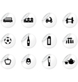 Stickers with English culture icons vector image vector image