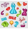 Set of female clothing and accessories Big sale vector image