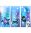 set of 3 winter cards vector image vector image